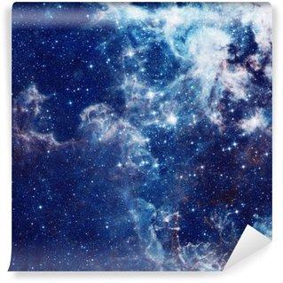 Pixerstick Fototapet Galaxy illustration, utrymme bakgrund med stjärnor, nebulosa, kosmos moln