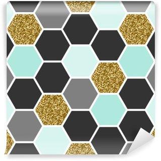 Pixerstick Fototapet Hexagon sömlösa mönster