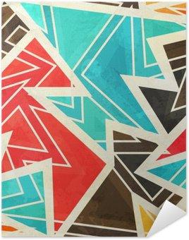 Pixerstick Poster Ungdom geometriskt seamless med grunge effekt