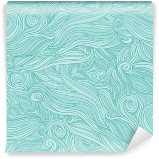 Pixerstick Wall Mural Seamless abstract pattern, tangle wavy hair background