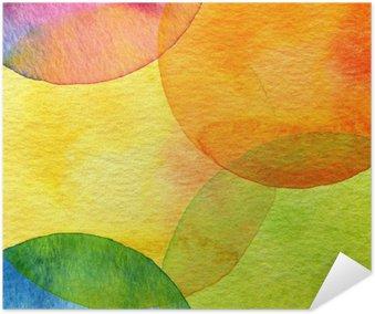 Plakat Abstrakt akvarell sirkel malt bakgrunn