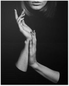 Plakat Femme fatale konsept. Gamle klassiske filmer skuespillerinne stil.