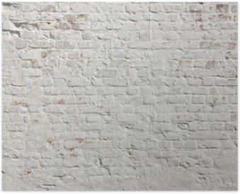 Hvid grunge murvæg baggrund Plakat HD