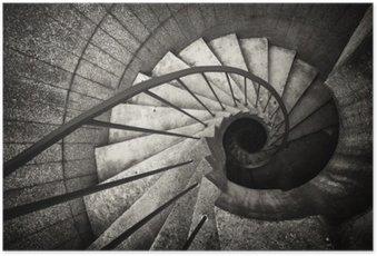 Plakat Spiral trapp