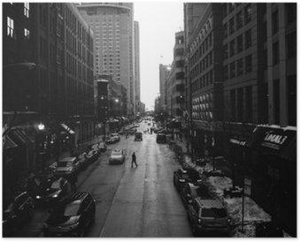Plakat Svart-hvitt Chicago Streets