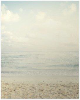 Vintage tropisk strand om sommeren Plakat