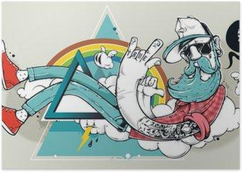 Plakát Abstract graffiti bederní