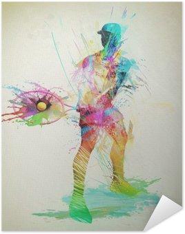 Plakát Abstract tenisový hráč