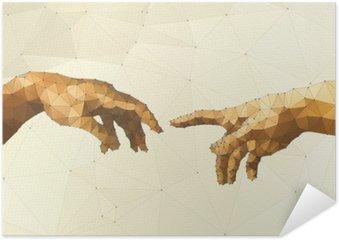 Plakát Abstrakt Boží ruka vektorové ilustrace