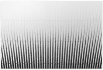Plakát Abstrakt minimalistické bílé pruhované pozadí s vertikálními liniemi a záhlaví. Kopírovat prostor. Textura.