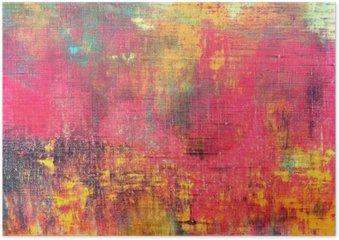 Plakát Abstraktní barevné ručně malované plátno textury na pozadí