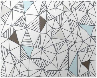 Plakát Abstraktní bezešvé doodle vzor