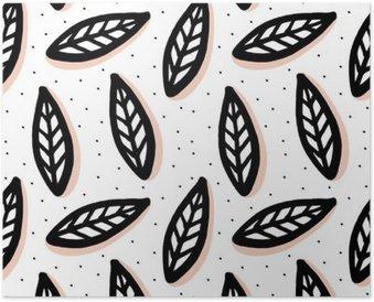 Plakát Abstraktní bezproblémové vzorek ve skandinávském stylu.