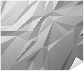 Plakát Abstraktní bílé pozadí low poly