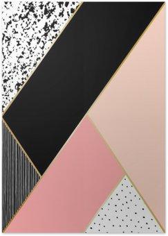 Plakát Abstraktní geometrické kompozice
