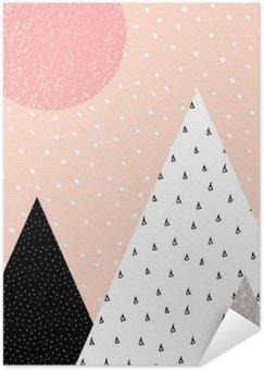 Plakát Abstraktní geometrické krajiny
