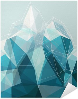 Plakát Abstraktní geometrie Blue Mountain