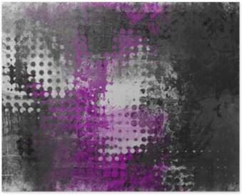 Plakát Abstraktní grunge pozadí s šedá, bílá a fialová