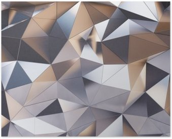 Plakát Abstraktní kovová nástěnná