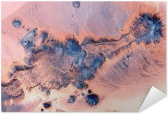 Plakát Abstraktní krajiny pouštích Afriky, Abstract naturalismus, abstraktní fotografie pouště v Africe ze vzduchu, abstraktní surrealismu Mirage v poušti, abstraktního expresionismu,