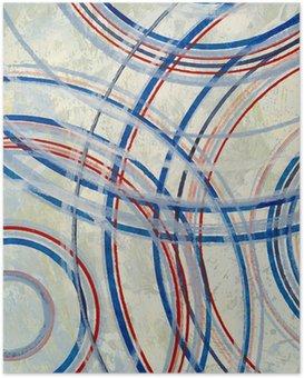 Plakát Abstraktní malbu