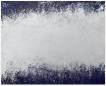 Plakát Abstraktní malovaná pozadí tmavě modré a bílé s prázdným prostorem pro text