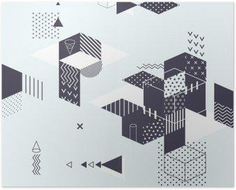 Plakát Abstraktní moderní geometrické pozadí