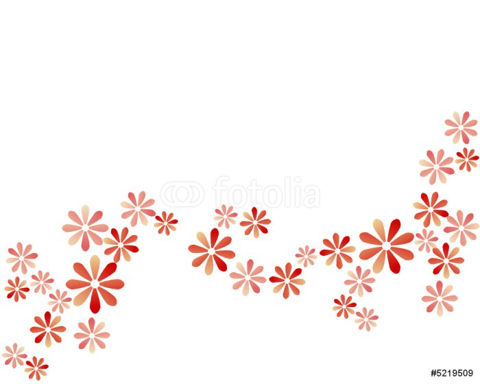 Plakát Abstraktní pozadí - červené květy - Pozadí