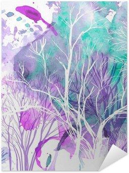 Plakát Abstraktní silueta stromů