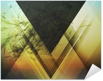 Plakát Abstraktní trojúhelník budoucí vektor pozadí