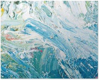 Plakát Abstraktní umělecká díla pozadí malba