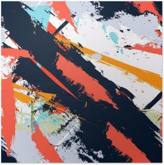 Plakát Abstraktní umění grunge nouzi bezproblémové vzor
