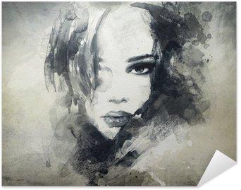 Plakát Abstraktní žena, portrét