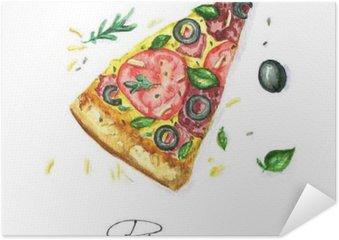 Plakát Akvarel Food Malba - Pizza