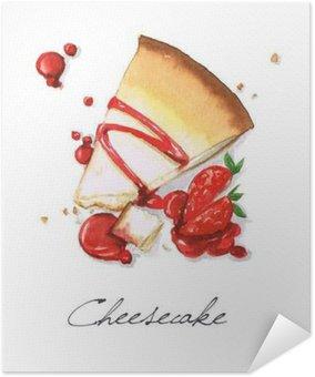 Plakát Akvarel Food Malba - Tvarohový