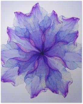 Plakát Akvarel květinové vzory kulaté.