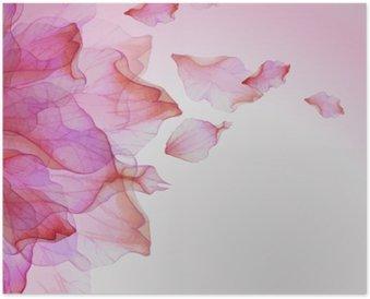 Plakát Akvarel květinovým vzorem s okvětními lístky