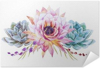 Plakát Akvarel lotus