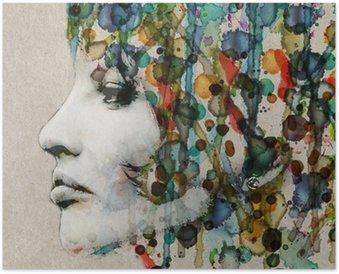 Plakát Akvarel samice profil