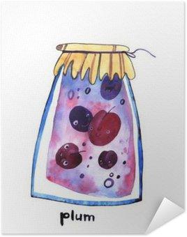 Plakát Akvarel švestka Jem