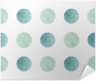 Plakát Akvarel textury. Bezešvé vzor. Akvarel kruhy v pastelových barvách na bílém pozadí. Pastelové barvy a romantické delikátní výprava. Polka Dot Pattern. Čerstvé a Mint barvy.