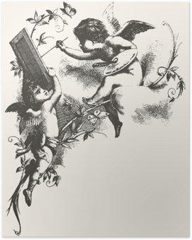 Plakát Angels - šedé tóny