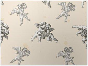 Plakát Angels vzor - vzor zahrnuty do krabice políčka