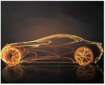 Plakát Auto světlo symbol