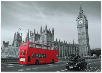 Plakát Autobus v Londýně