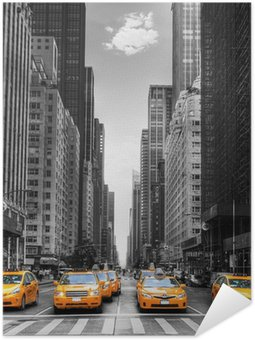 Plakát Avenue s taxíky v New Yorku.