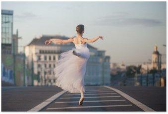 Plakát Baletka v centru Moskvy v ranních hodinách