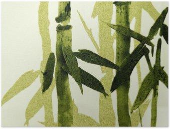 Plakát Bambus textury