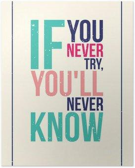 Plakát Barevné inspirace motivace plakát. Grunge styl