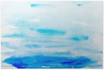 Plakát Barevné tahy akvarelu umění